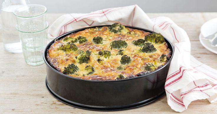 Met dit recept zet je een smaakvolle broccolitaart op tafel.
