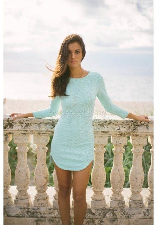 Carley mint bodycon dress