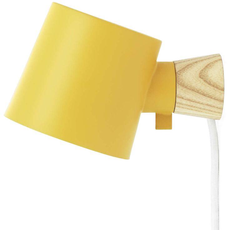 normann copenhagen rise vegglampe gul