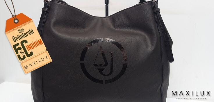 Yaşamımızdaki en şık tamamlayıcılar,size fark katsın üstelik %50 indirim ile! #Maxilux #Giyim #Moda #Marka #Çanta #AJ #Fashion #Brand #Bag
