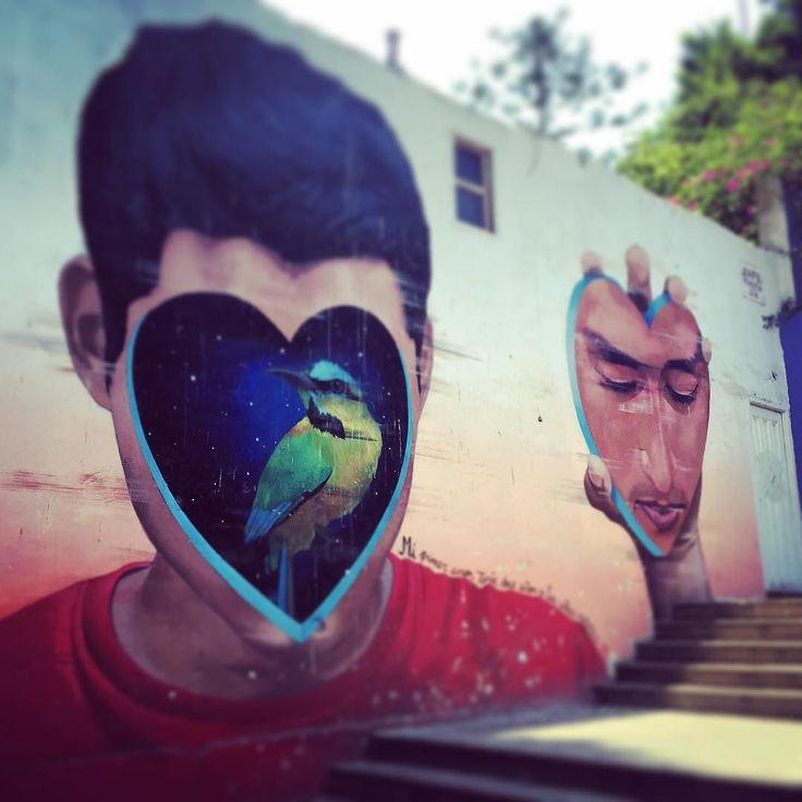 #Graffiti en el #limeño barrio de #Barranco situado muy próximo al famosísimo #PuentedelosSuspiros.  #latinoamericaneando en #Lima #Perú by latinoamericaneando
