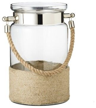 Threshold Wrapped Hurricane With Rope Handle beach-style-candleholders