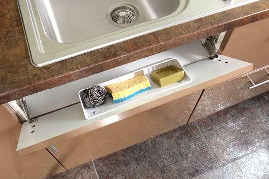 cuisine: aménagement du faux tiroir sous evier