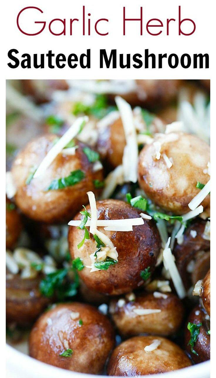 Garlic Herb Sauteed Mushrooms