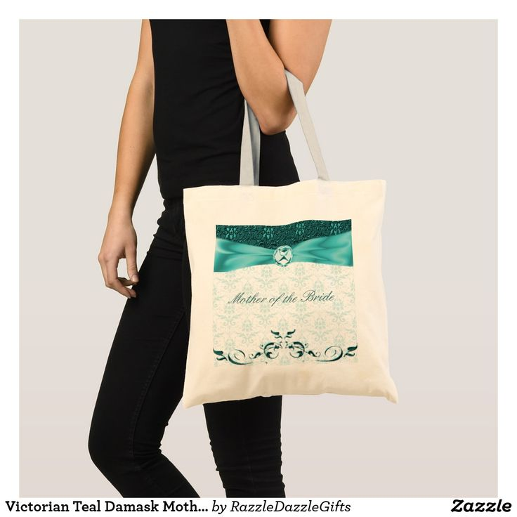Victorian Teal Damask Mother of the Bride Bag/tote Tote Bag