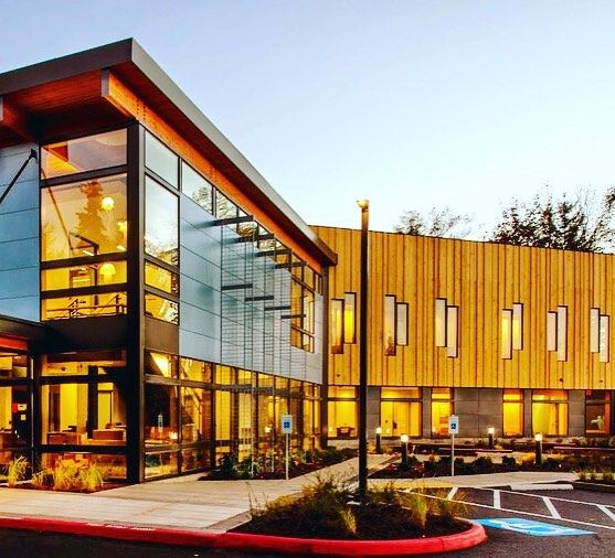 """...the material itself was easy to work with. The panels were straight and true; it went up well and looks nice."" Adam Vega, project manager for Tim Ryan Construction. Harrison Medical Center, Bainbridge Island, Washington."