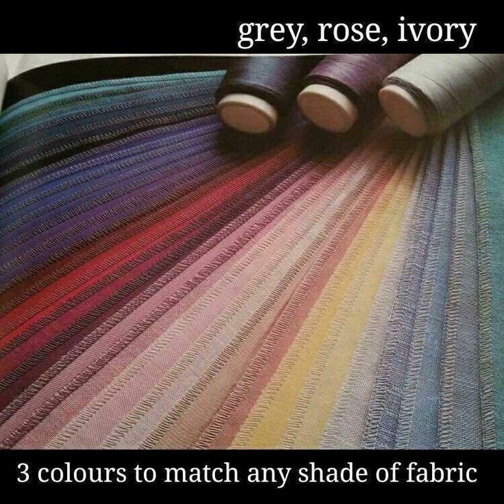 Pro tip: You don't need serger thread to match every color fabric. One of these three colors will work for nearly every fabric!