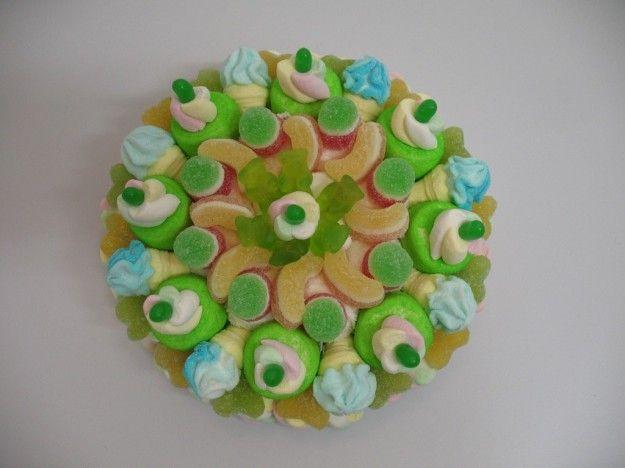 Torta caramelle gommose verde