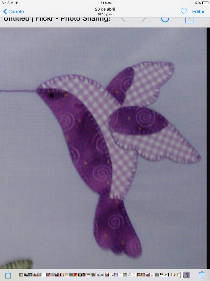 29 Best Images About Hummingbird Applique Quilts