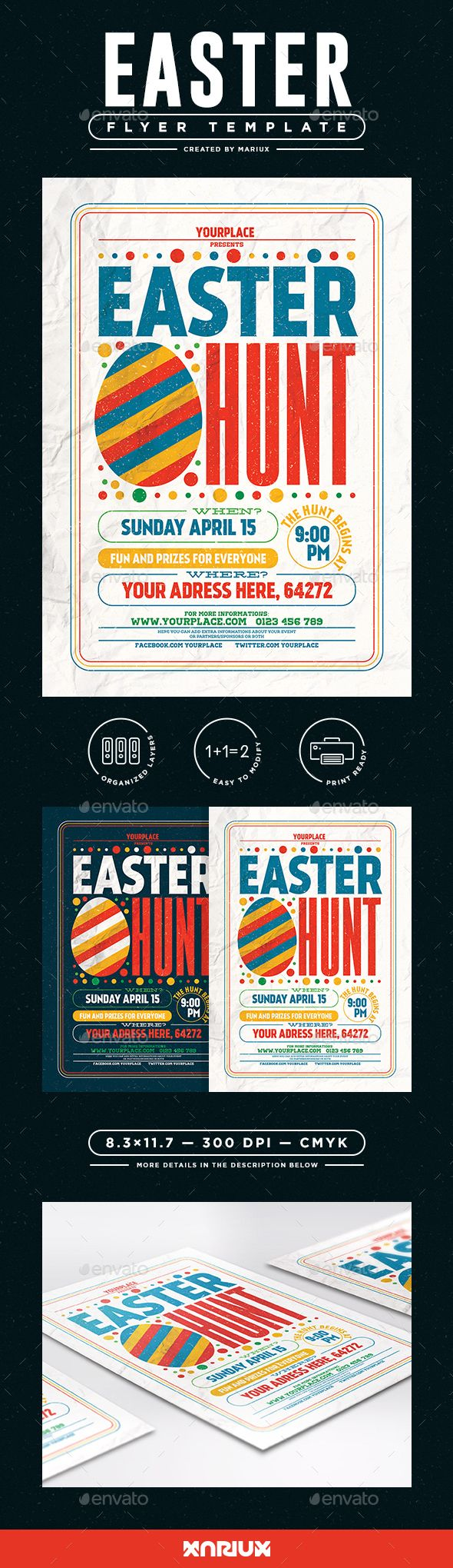 Easter Egg Hunt Flyer/Poster   #celebration, #colourful, #easter, #easter egg hunt, #Easter Egg Hunt Flyer, #easter egg hunt poster, #easter flyer, #easter poster, #egg hunt, #egg hunt flyer, #event, #flyer, #holiday, #poster, #print, #psd, #retro, #template, #texture, #typography, #typography flyer, #vintage