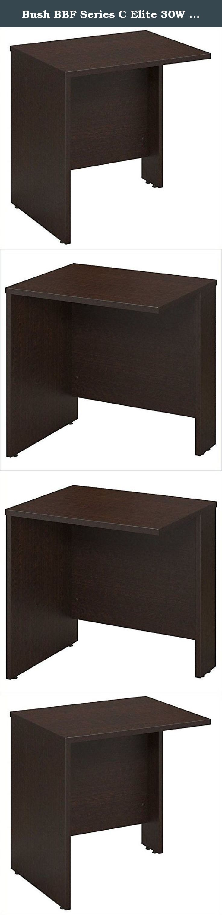 Bush BBF Series C Elite 30W x 24D Bridge-Return in Mocha Cherry. Manage your changing workspace with Series C Elite 30W x 24D Bridge/Return in Mocha Cherry inspires you to personalize your office design. It works as a bridge between two desks or a return to form an L shaped desk configuration. This component must be attached at both ends to a Desk, Credenza and Return or Return/Bridge, and is not freestanding. The thermally fused laminate construction delivers strength and durability with…