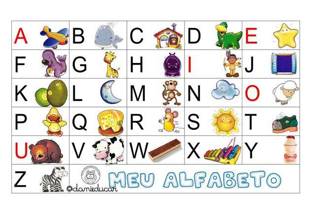 Meu Alfabeto Colorido Ilustrado Atividades De Alfabetizacao