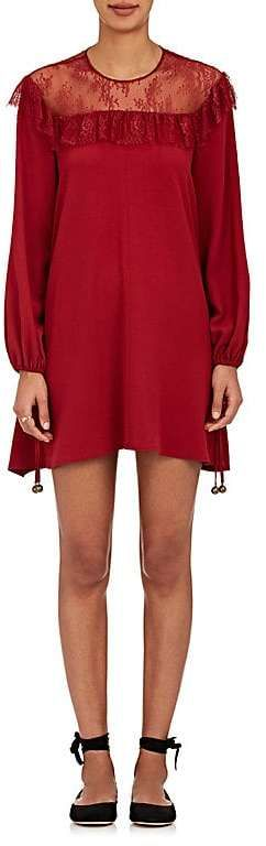 Sale! Philosophy di Lorenzo Serafini Women's Lace-Yoke Ruffle Minidress   | red, dark red bright red, pattern, burgundy, red aesthetic, red things, red board, red fashion ( affiliate )