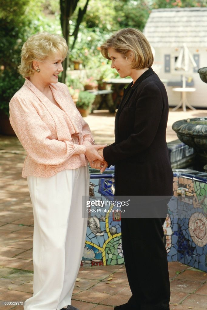 Left to right, Debbie Reynolds and daughter Carrie Fisher host a CBS  television special: