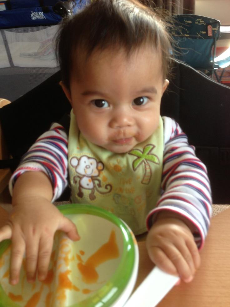 Meet adorable Daniel using his OXO Tot Divided Feeding Dish! What a cutie!