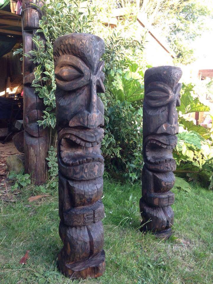 57 best Tiki Statues images on Pinterest  Drift wood