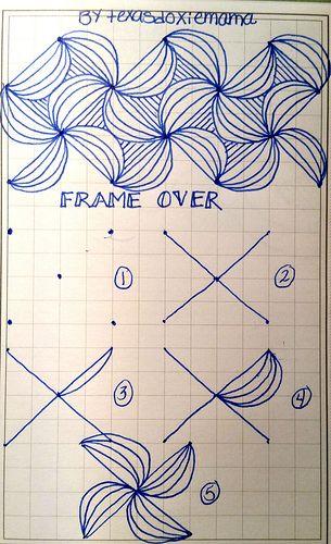 Frame Over~Zentangle