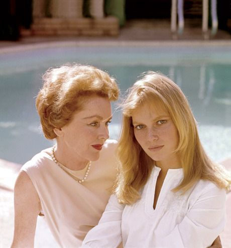 Mia Farrow and her mother, actress Maureen O'Sullivan (she played Jane in the film Tarzan and His Mate, 1934)