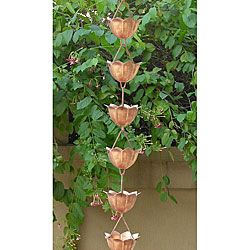 want one of  these for the front porch overhang.Copper Rain, Rain Chains, Gardens, Puree Copper, Monarch Lotus, Front Porches, Lotus Copper, Lotus Flower, 8 5 Foot Puree