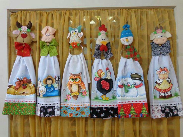 Lindos adornos para la cocina toallas decoradas pinterest for Adornos pared cocina