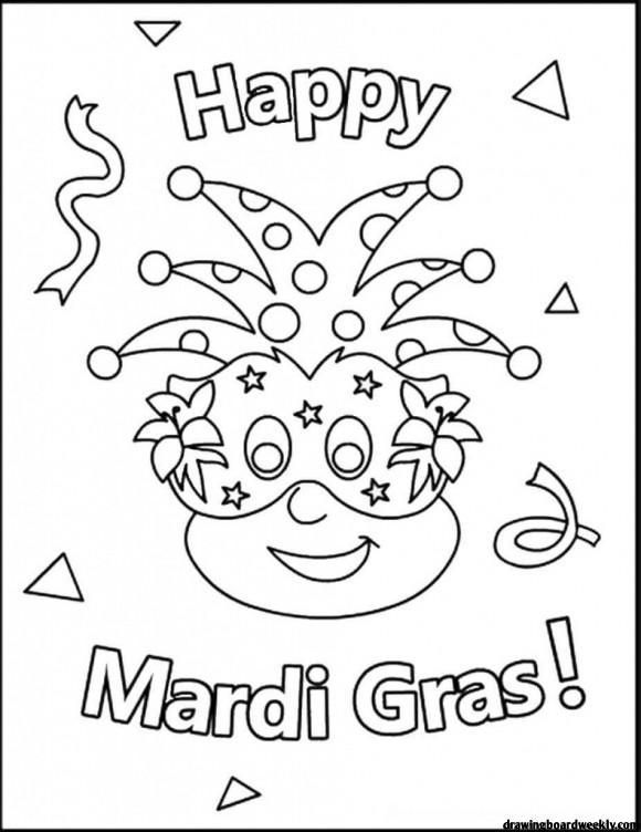 Mardi Gras Coloring Pages In 2020 Mardi Gras Crafts Mardi Gras