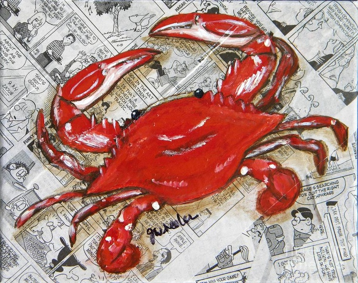 The Daily Crab Painting  - The Daily Crab Fine Art Print