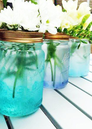 How To Make CUTE Cloud Mason Jars