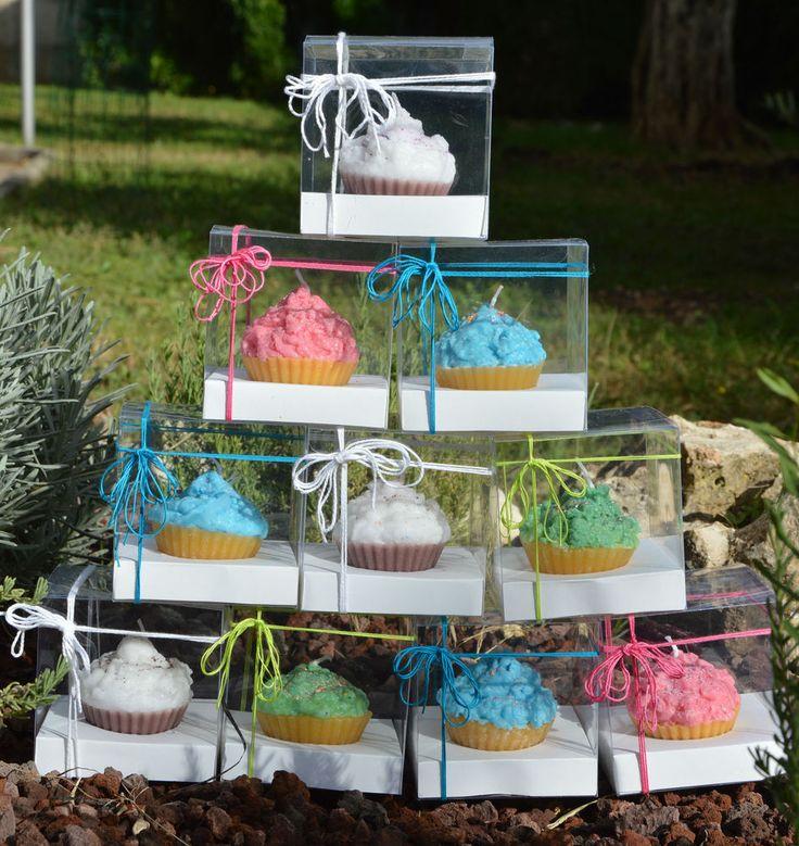 Candele Cupcake realizzate a mano - IDEA REGALO - candle