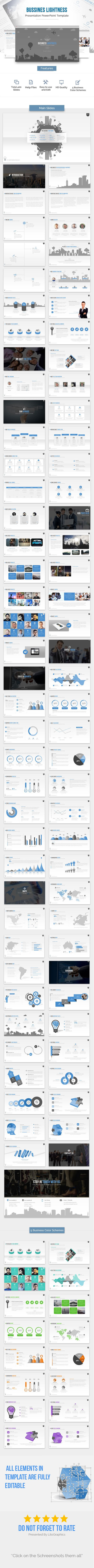 Business Lightness PowerPoint Template
