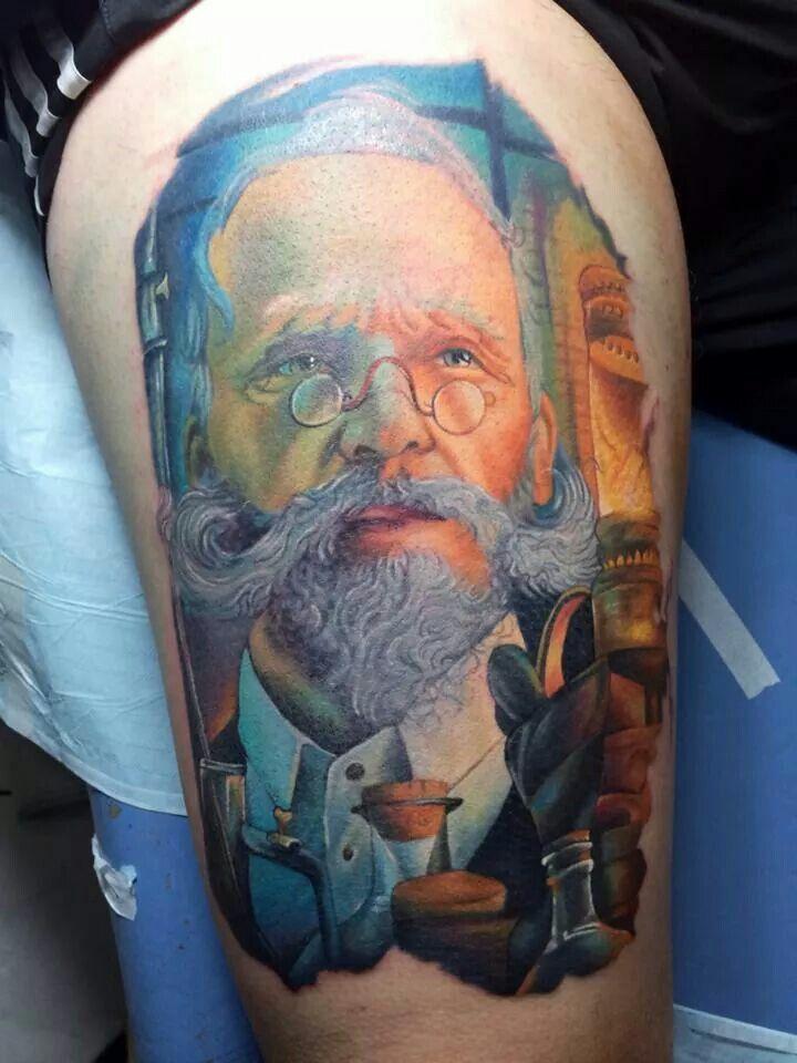 Electric ink tattoos portrait tattoo watercolor tattoo