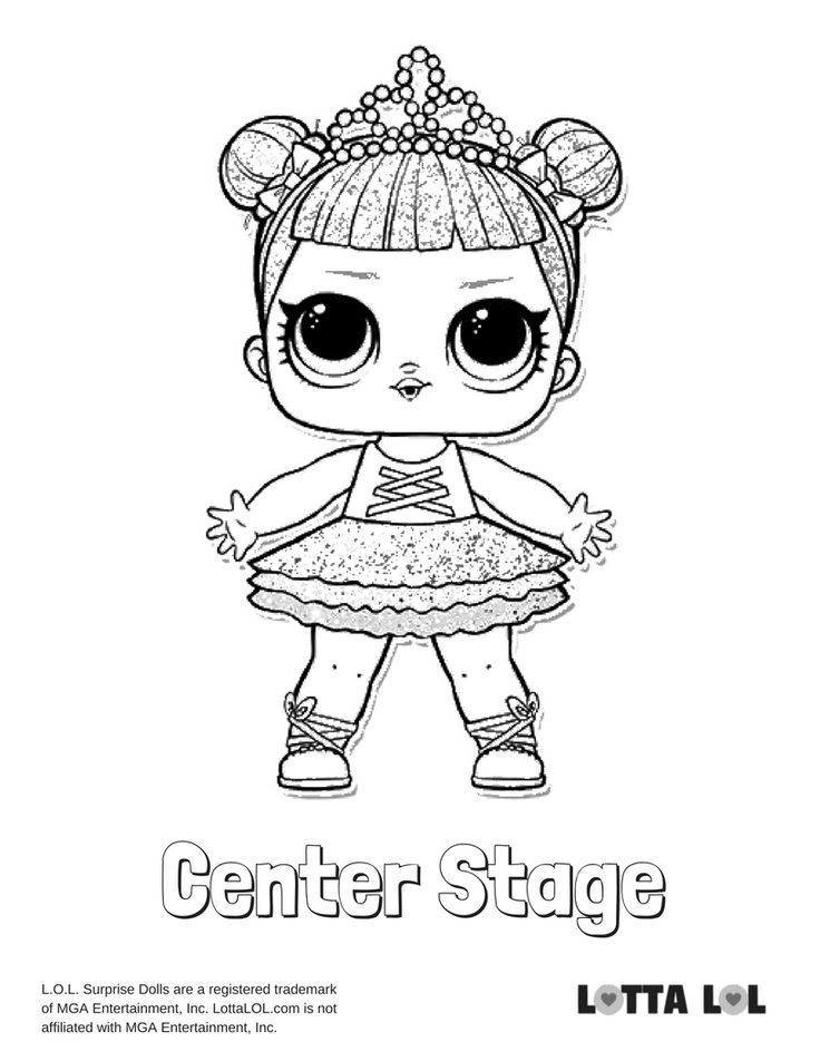 Center Stage Glitter Coloring Page Lotta LOL   Hello kitty ...