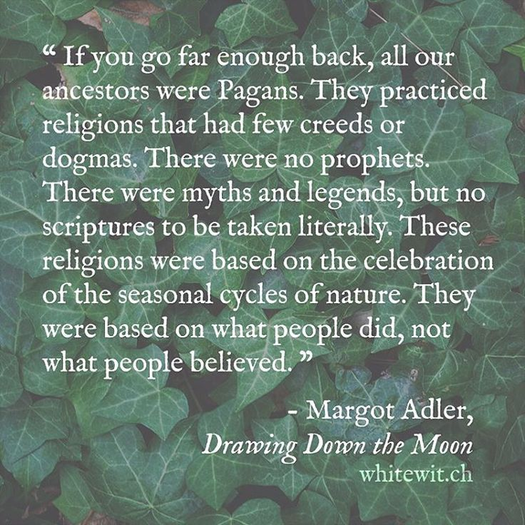 I'm a Genealogist. If you go far enough back, you'll see that you're ancestors were pagan. I have!