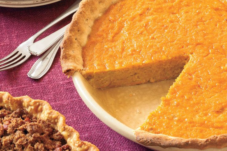 Orange-Sweet Potato Pie With Rosemary-Cornmeal Crust  - 23 Ways with Sweet Potatoes - Southernliving. Recipe: Orange-Sweet Potato Pie With Rosemary-Cornmeal Crust The simple addition of fresh chopped rosemary, a fragrant herb that pairs beautifully with the rustic texture of cornmeal—makes this an impressive pie crust. This crust is a wonderful complement to the flavors of the spiced sweet potatoes in the filling, which have a hint of citrus notes. It's a twist on the traditional sweet…