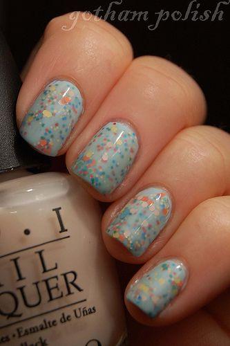 confetti cake nails - so cute!