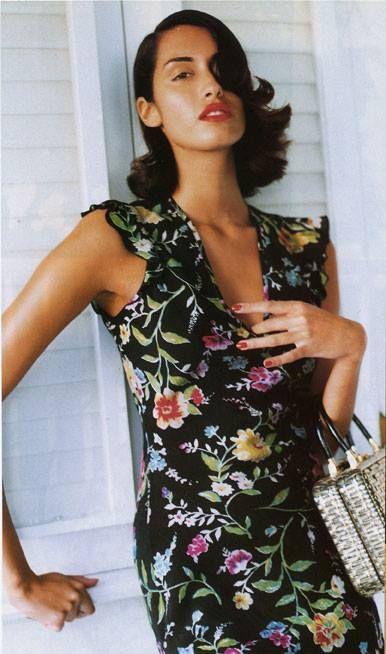 ☆ Yasmeen Ghauri   Photography by Pamela Hanson   For Vogue Magazine UK   April 1995