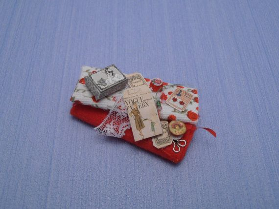 Gaël Miniature Bolts of cloth plus SEWING by Gaelatelier on Etsy