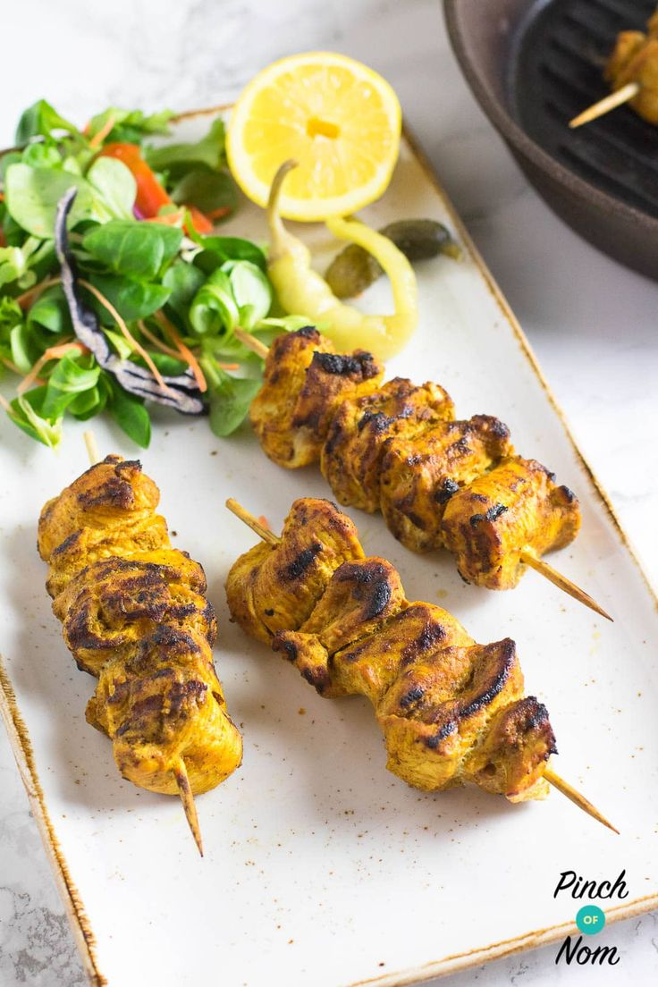 Syn Free Chicken Tikka Kebabs | Slimming World