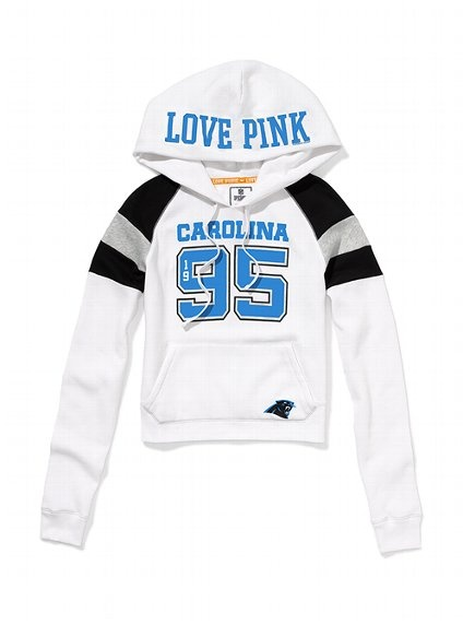 Carolina Panthers - Shrunken Pullover Hoodie - Victoria's Secret PINK $54.50