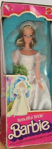 Vintage barbie beautiful bride fashion handsome