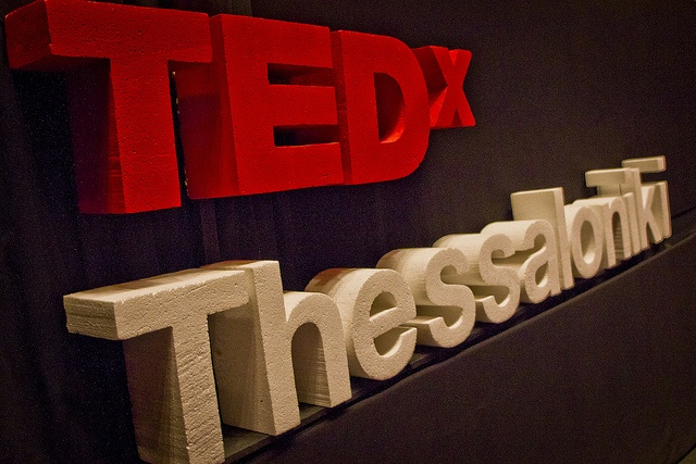 Logo on stage by TEDx Thessaloniki, via Flickr