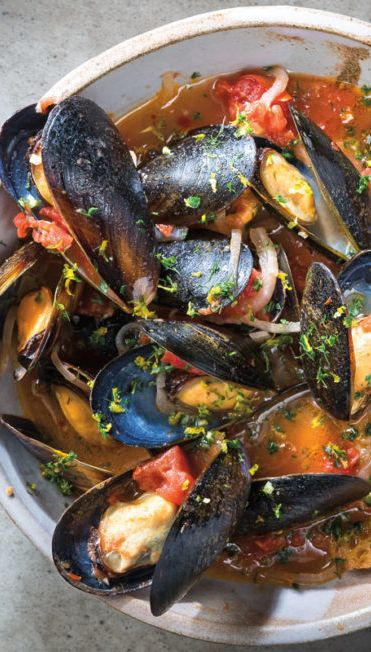 Cooked Mussels Cremolata