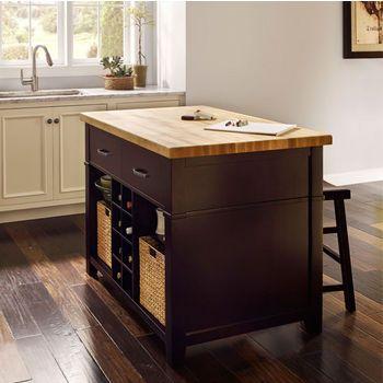 Beautiful Alexander Conversation Espresso Kitchen Island With Matching Stools Design  Ideas
