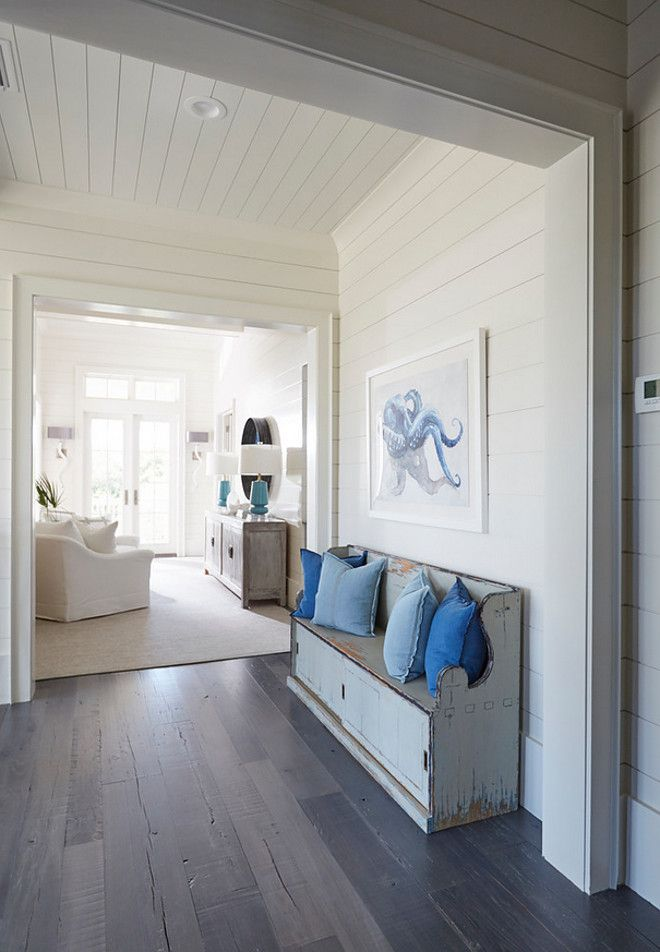 "Best off-white paint color by Benjamin Moore: ""Benjamin Moore OC-17 White Dove"". Coastal Styling."