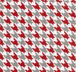 Red and Gray Houndstooth by Fabric Finders - 1/2 yard. $5.00, via Etsy.