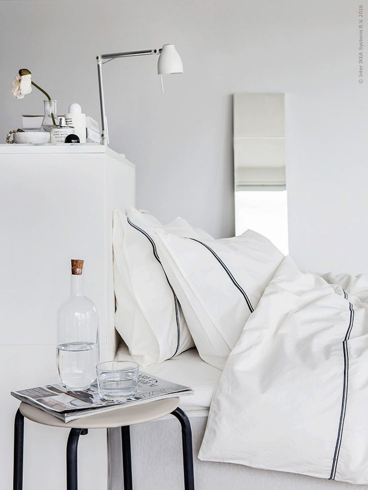 white and very cosy bedroom by IKEA makeahome.nl