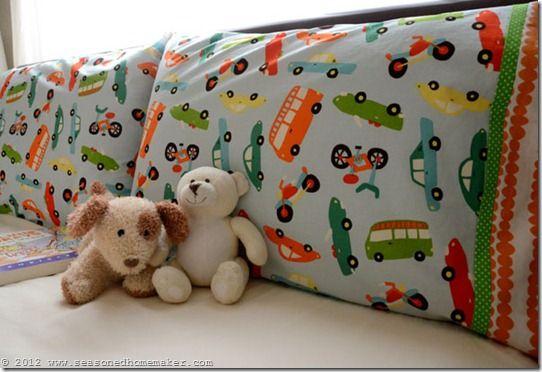 Pillowcase Pattern:: How to Make a Pillowcase ~ Burrito Style