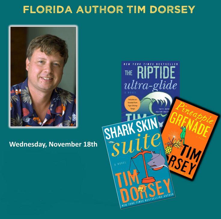 Author Tim Dorsey at #SPCollege St. Petersburg/Gibbs, Tarpon Springs campuses Nov. 18
