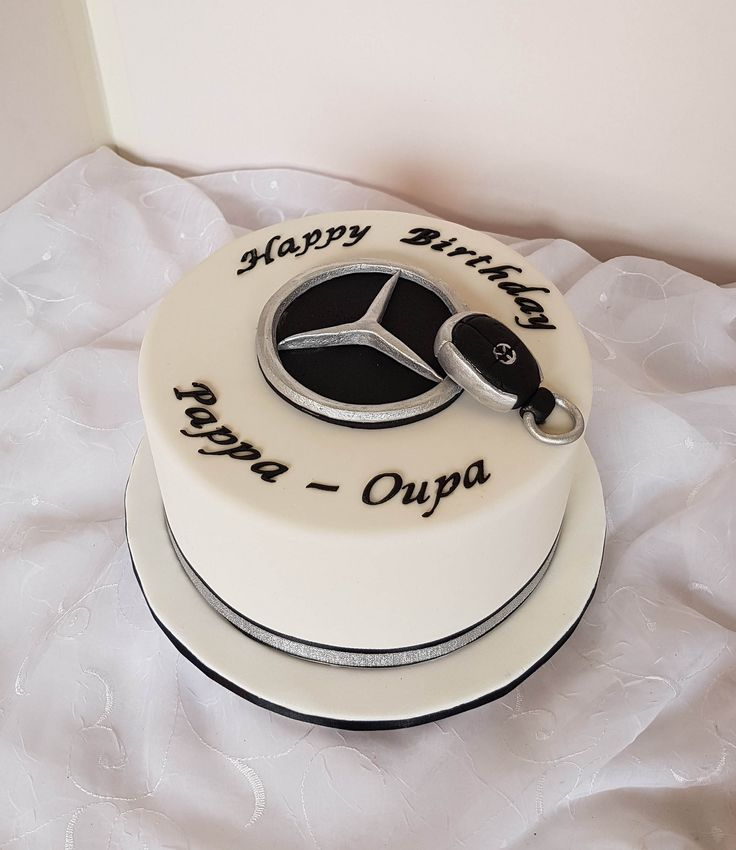 143 best birthday cakes for men 2 images on pinterest for Mercedes benz birthday cake