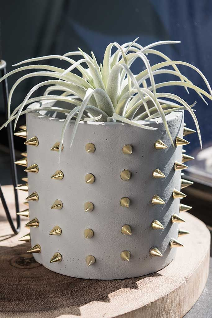 HOW TO MAKE AN UNUSUAL STUDDED PLANTER | Always Brainstorming
