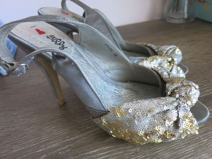 I LOVE BILLY Shoes Size 39 Silver Gold High Heel BUY 4 or more items 4 FREE POST #ILoveBilly #CocktailParty